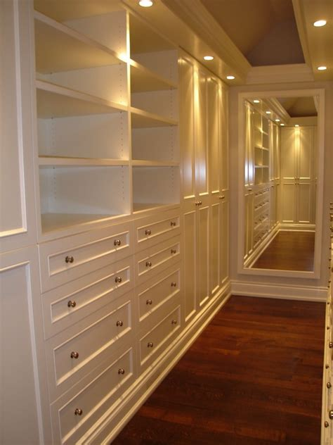 Narrow Closet Ideas by Narrow Walk In Closet Design Ideas