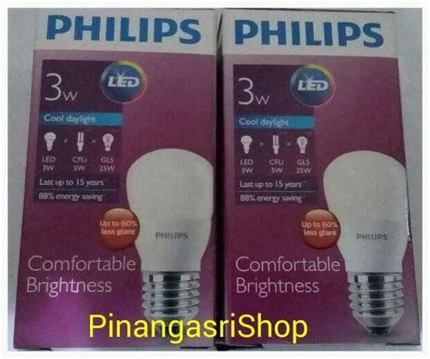 Philips Led 3 Watt Putih jual lu led philips 3 watt bohlam 3w philip putih 3 w