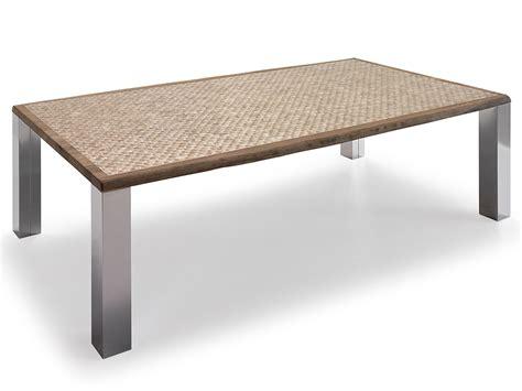 mesa comedor de roble marinado  nacar completa  patas p