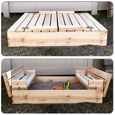 sandbox with bench lid 17 best ideas about wooden box with lid on pinterest