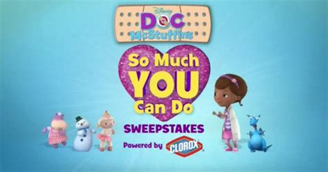Disney Junior Sweepstakes - disney junior doc mcstuffins so much you can do sweepstakes sweepstakes lovers
