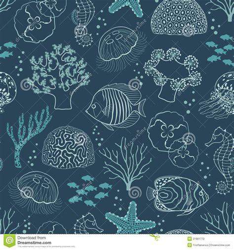underwater pattern background underwater life pattern stock vector image of medusa