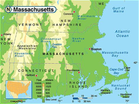massachusetts physical map massachusetts physical map by maps from maps