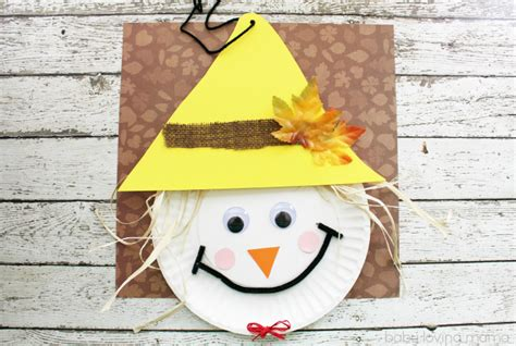 Scarecrow Paper Plate Craft - scarecrow paper plate craft for thanksgiving