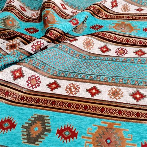 Aztec Upholstery Fabric by Ethnic Tribal Style Chenille Upholstery Fabric Aztec Navajo