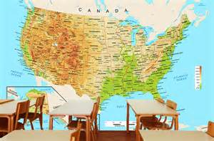 us map wall mural united states physical map wall mural from academia