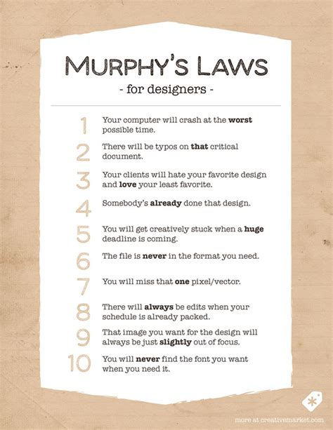 Famous Lighting Designers 10 funny murphy s laws for designers