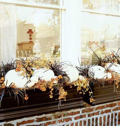 Window Box Decorating Ideas by Just So Lovely Fall Window Box Inspiration