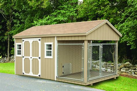 Shed With Dogs by Shed Kennel Plans