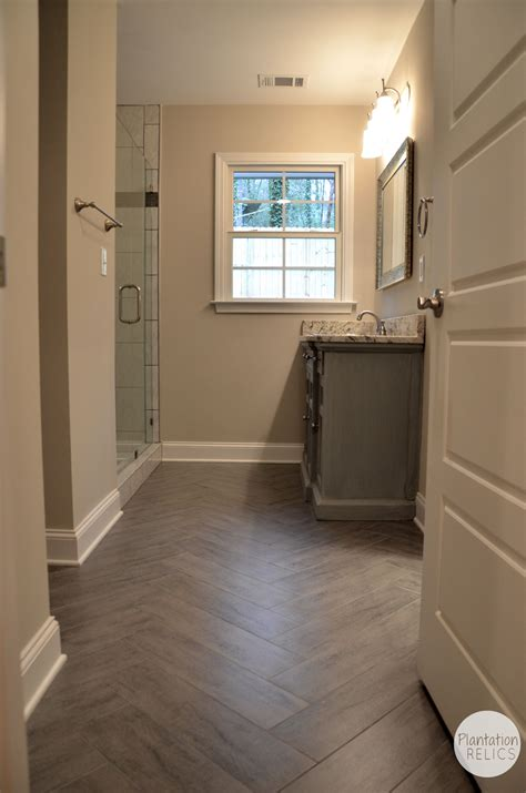 i love wood floors in bathrooms for the home pinterest hall bathroom after renovation flip house 1 plantation