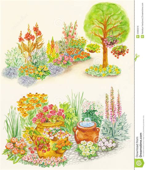 design flower beds free garden design of flower beds with ornamental flowe stock