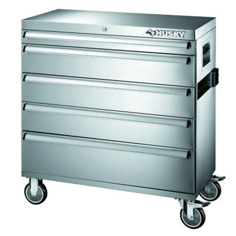 Husky 36 In 12 Drawer Tool Chest And Cabinet Combo In by Husky 36 In 5 Drawer Tool Cabinet 36sscathd The Home Depot