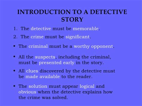 the point of the a novel of the 20th century books elements of a detective story