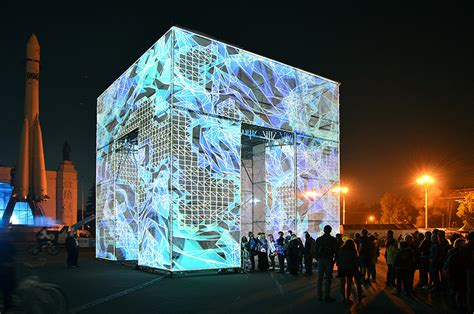 designboom russia marcos zotes sites immersive digital p cube in moscow s
