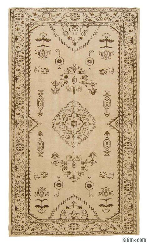 Overdyed Vintage Turkish Rugs by K0006118 Beige Yellow Dyed Turkish Vintage Rug