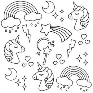 unicorn coloring book free printable unicorn colouring pages for buster