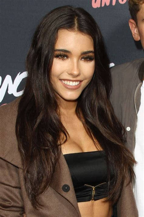 madison beer short hair madison beer wavy dark brown angled hairstyle steal her