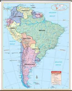 map of south america with capitals