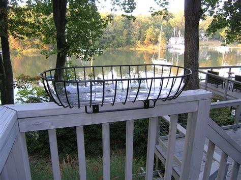 rail planter patio rail planter straddles wooden deck railing