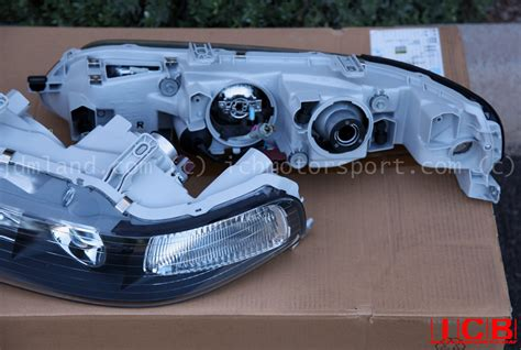 Lu Hid Motor Honda jdm dc2 integra dc2 itr black housing headlights non hid