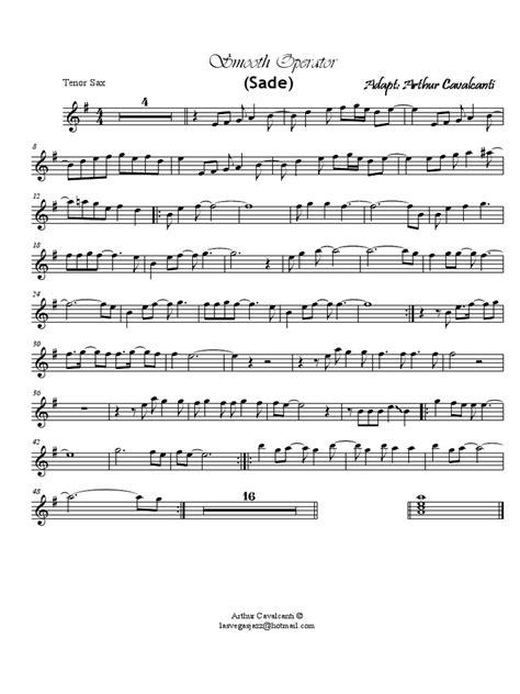 testo smooth operator smooth operator tenor sax