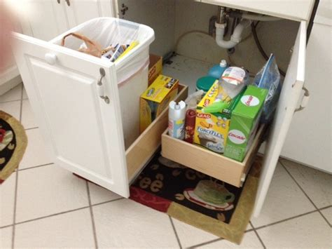 kitchen cabinet garbage drawer pull out trash bin and pull out shelf kitchen drawer