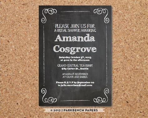 diy chalkboard bridal shower invitations bridal shower invitation diy editable word template