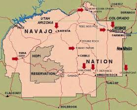 the navajo reservation into america