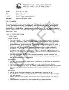 Report To Board Of Directors Template by Report Template For Board Of Directors Best Business