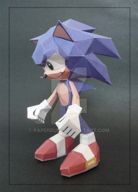 Sonic The Hedgehog Paper Crafts - sonic the hedgehog papercraft by paperbuff on deviantart