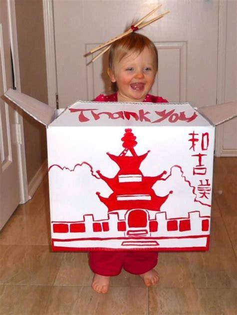 amazing cardboard box costume ideas chinese takeout box