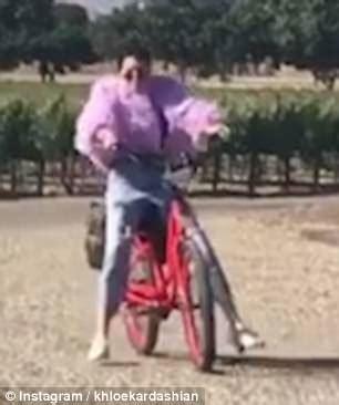 hope kris jenner falls from fame kendall jenner falls off her bike in instagram video