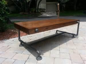 Iron Pipe Furniture Industrial Iron Pipe Cedar Wood Coffee Table Unique Design