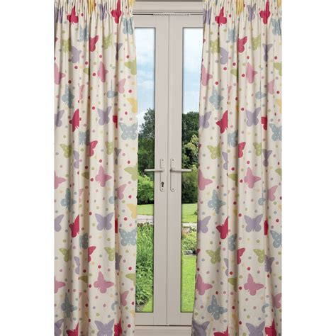 60 inch drop curtains at home kids butterfly 2 3 3 0m wide x 1 60 drop curtain candy