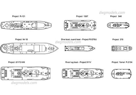 how to draw a boat in cad ships boats dwg models free download