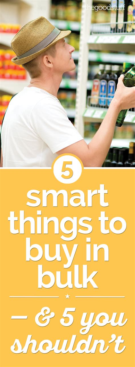 7 Surprising Items You Should Buy In Bulk by 5 Smart Things To Buy In Bulk 5 You Shouldn T