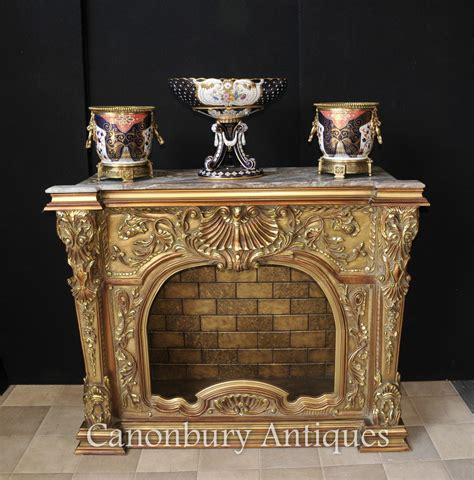 Carved Fireplace by Carved Louis Xvi Gilt Fireplace Mantle Place