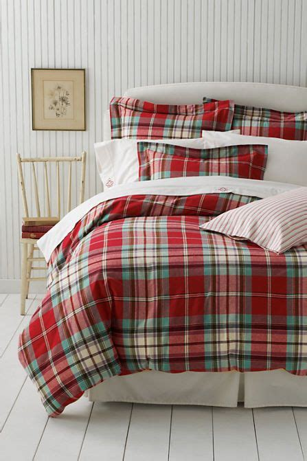 flannel plaid comforter flannel antique plaid sham