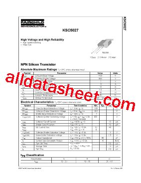 c5027 datasheet pdf fairchild semiconductor