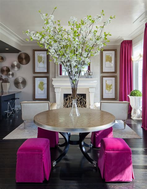 Dining Room Decor Pink Decorating With Fuchsia How To Bring This Bold Shade Into