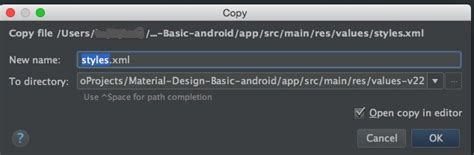 Android Cannot Resolve Symbol Theme by Java Values 21 Values 22 Or Values Xx Folder Is