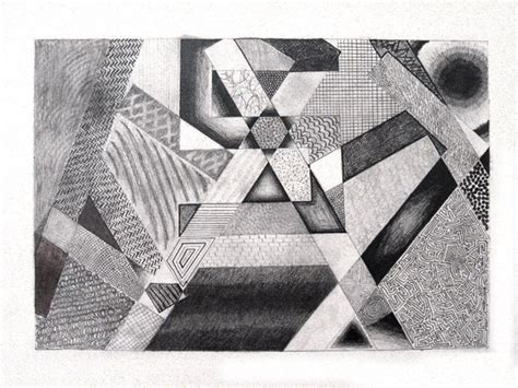value pattern in art drawing using textures notice how a repeated line can