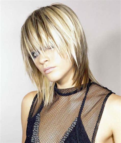 blonde hair  dark streaks  lowlights