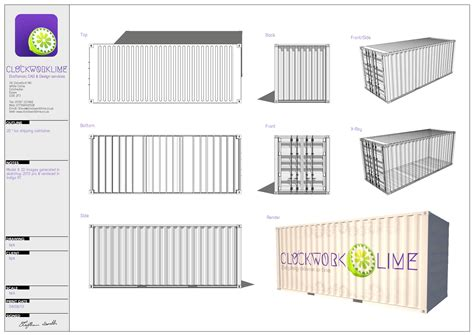 House Design Plans 3d Up And Down shipping container architectural design and measured