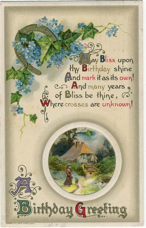 Images Vintage Birthday Cards Treasures N Textures Vintage Birthday Wishes