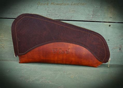 pistol rugs custom made leather pistol or gun rug with zipper closure by ozark mountain leather