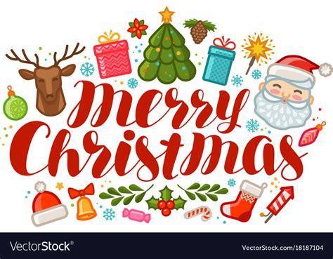 merry christmas greeting card  banner xmas vector image