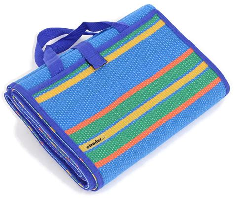 Camco Rv Mat camco rv handy mat 78 quot x 60 quot wide blue w stripes camco patio accessories cam42805