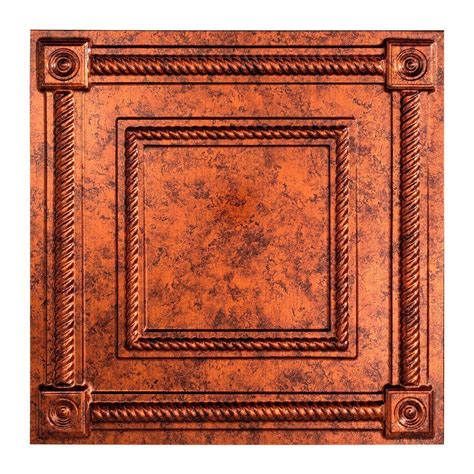 Copper Ceiling Tiles Home Depot by Fasade Coffer 2 Ft X 2 Ft Lay In Ceiling Tile In