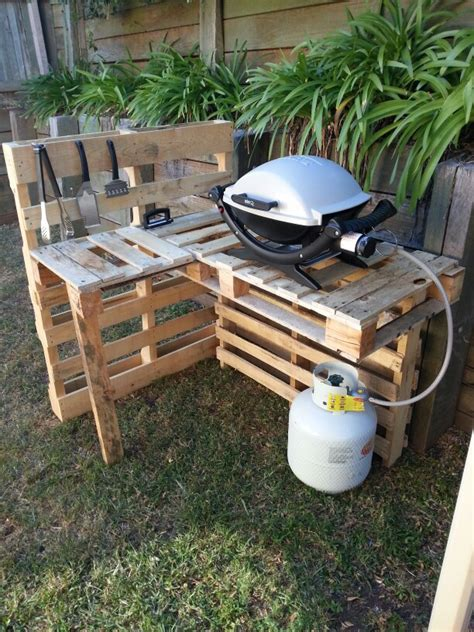 diy pit stand bbq stand made from pallets things i made